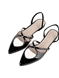 Women's Loafers & Slip-Ons Summer Slingback Club Shoes Mary Jane Gladiator Formal Shoes Comfort Novelty Ankle Strap Light SolesPatent