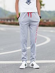 Hombre Clásico y Atemporal Free Form Activo Tiro Medio Micro-elástica Chinos Pantalones de Deporte Pantalones,Corte Ancho Delgado Letra