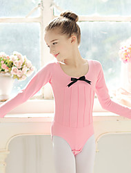 Ballet Leotards Kid's Cotton Spandex 1 Piece Long Sleeve