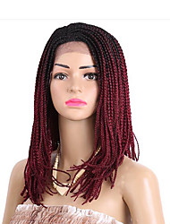 braided wig lace frotal synthetic braiding wig 16inch purple kanekalon wigs 613 color women's wig synthetic box braids wig 1pc 3x braids wigs