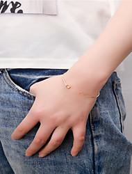 Femme Manchettes Bracelets Bijoux Mode Cuivre Formé Carrée Or Argent Bijoux Pour Soirée Occasion spéciale 1pc