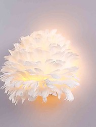 Feather Wall Lights 1 LightsModern/Contemporary Bedroom Hotel Wall Sconces E12/E14