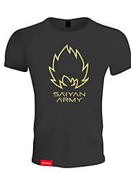 Homens Camiseta de Corrida Manga Curta Respirável Macio Confortável Camiseta Blusas para Exercício e Atividade Física Esportes Relaxantes