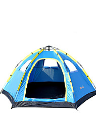 5-8 Pessoas Tenda Único Tenda Automática Um Quarto Barraca de acampamento 1000-1500 mm Fibra de Vidro OxfordÁ Prova de Humidade