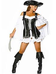 Costumes de Cosplay Pirate Fête / Célébration Déguisement d'Halloween Mode Collant/Combinaison Coiffure Halloween Carnaval Féminin