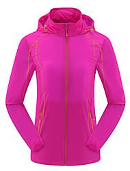 Mulheres Jaqueta Blusas Acampar e Caminhar Pesca Alpinismo De Excursionismo MotoclicletaRespirável Secagem Rápida A Prova de Vento