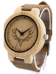 BOBO BIRD Men's Fashion Watch Wristwatch Unique Creative Cool Casual Genuine Leather Band Vintage Luxury Watches Japanese Quartz Wood Watch
