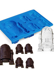 1Pcs  New Durable Silicone R2D2 Ice Cube Mold Cookies Chocolate Suger Baking Mould DIY Kitchen Tool