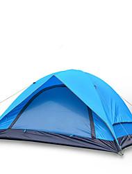 3-4 Pessoas Tenda Duplo Barracas para Acampamento Família Um Quarto Barraca de acampamento Oxford Poliéster TafetáÁ Prova de Humidade Bem