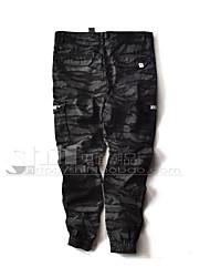 Hombre Activo Tiro Medio Microelástico Chinos Pantalones,Delgado Camuflaje