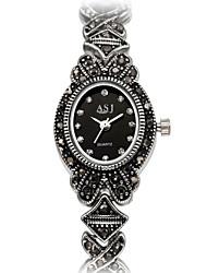 ASJ Женские Модные часы Часы-браслет Японский Кварцевый Японский кварц Защита от влаги Ударопрочный Имитация Алмазный сплав ГруппаВинтаж