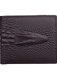 Fashion Crocodile Men Wallet Cowhide Polyester Casual Office & Career Shopping