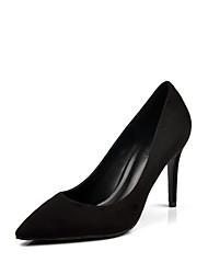 Damen-High Heels-Lässig-Wildleder-Stöckelabsatz-Komfort-