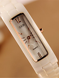 Women's Fashion Watch Chinese Quartz Ceramic Band Ivory