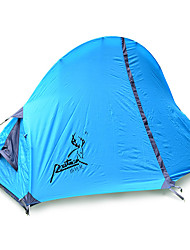 1 person Tent Double Fold Tent One Room Camping Tent Fiberglass Oxford Waterproof Portable-Hiking Camping-Blue