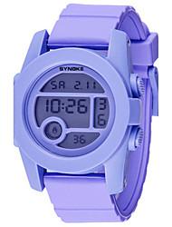 Мужской Модные часы Цифровой силиконовый Группа Черный Белый Синий Розовый Фиолетовый