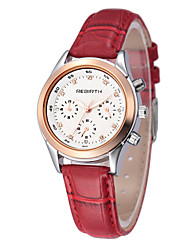 REBIRTH® Women's Fashion Watch Japanese Japanese Quartz / PU Band Casual Black White Red Brown Red Brown Black White