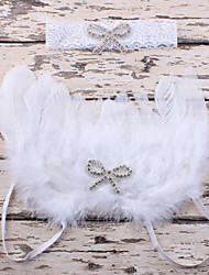 Newborn's Babys Feather White Angel Wings Set Auger Bowknot Heads Handbands