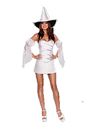 Costumes de Cosplay Sorcier/Sorcière Fête / Célébration Déguisement d'Halloween Noir Blanc Autres Robe Bracelet Chapeau Halloween Féminin