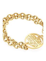 Kalen New Brand Jewelry Hamsa Hand Charm Bracelets & Bangles Fashion Stainless Steel Gold Plated Fatima Hand Bracelets for Women Girls Christmas Gifts