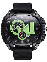 Men's Sport Watch Chinese Quartz Silicone Band Black