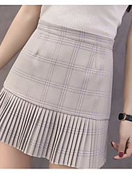 Femme Décontracté / Quotidien Au dessus des genoux Jupes,Crochet Géométrique Eté