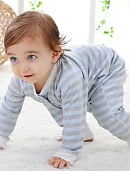 Una Pieza Bebé Un Color Algodón Manga Larga Verano Otoño