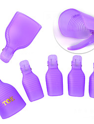 5 PC / silicone do dedo do pé do lote que descarrega a ferramenta do envoltório dos soakers da arte do prego da armadura