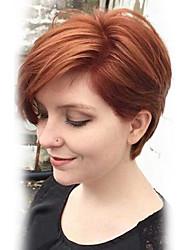 peluca&Seda corta natural sin tapa cap peluca de pelo humano para las mujeres 2017
