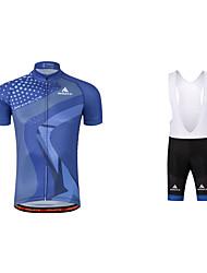 Maillot et Cuissard à Bretelles de Cyclisme Vélo La peau 3 densités Bandes Réfléchissantes Anti-transpiration PolyesterPrintemps Eté
