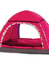 2 personnes Abri et Toile Unique Tente automatique Une pièce Tente de camping Fibre de verre OxfordEtanche Pare-vent Résistant aux