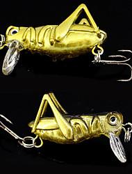 """2 pcs Señuelos duros Cebos Señuelos duros Verde Blanco Amarillo Lomo cromado en dorado g/Onza,40 mm/1-5/8"""" pulgada Pesca de baitcasting"""