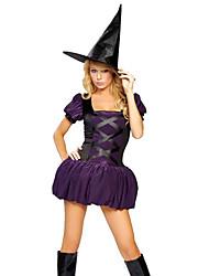 Costumes de Cosplay Sorcier/Sorcière Fête / Célébration Déguisement d'Halloween Autres Robe Chapeau Halloween Féminin Elasthanne Térylène