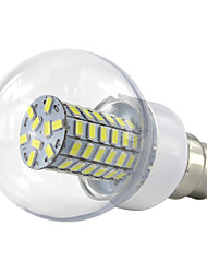 4.5W B22 Круглые LED лампы 69 SMD 5730 420 lm Тёплый белый Холодный белый V 1 шт.