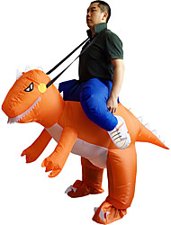 Inflatable Orange Dinosaur Costume Adult Fancy Dress Costume Jump Suit Disfraces Adultos Hen Stag Outfit Cosplay