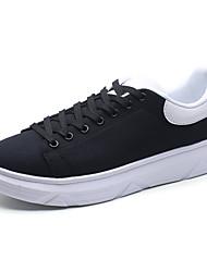 Herren-Sneakers Frühjahr Herbst Komfort Leder casual schwarz / weiß schwarz