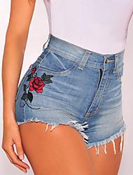 Femme Taille Haute Short Pantalon,Slim Imprimé