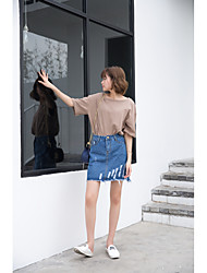 Women's Mini Skirts A Line Solid