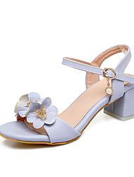 Femme-Mariage Décontracté Soirée & Evénement--Gros Talon-Bride de Cheville Flower Girl Chaussures De minuscules talons pour les ados-