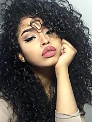 180% Density Lace Front Human Hair Wigs Kinky Curly For Black Women Brazilian Curly Remy Hair Pre Plucked With Baby Hair