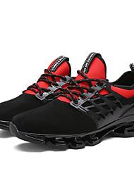 Unissex-Tênis-Conforto Solados com Luzes par sapatos-Salto Baixo-Preto Preto/Vermelho Preto / verde-Tule-Ar-Livre Casual Para Esporte