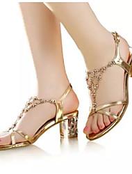 Женские туфли на каблуках летние босоножки pu casual black gold