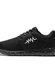 Unisex-Sneakers-Casual-pattini delle coppiePU (Poliuretano)-Bianco Nero Fucsia Bianco/nero