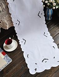 Rectangulaire Brodé Chemins de table , 100% Coton MatérielDécoration Soirée Mariage Mariage Banquet Décorations de Noël Tableau