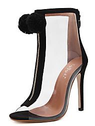 Damen-Sandalen-Kleid-Gummi-Blockabsatz-Club-Schuhe-