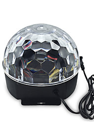 LED Stage Light Magic LED Light Ball Party Disco Club DJ Show Lumiere LED Crystal Light Laser Projector 6W - - -Auto Strobe