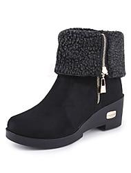 Women's Boots Spring Comfort Suede Casual Low Heel Camel Coffee Black