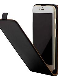 Para el iphone 7 7 más el cuero cristalino de la PU del grano con el tirón arriba y abajo 6s 6 más se 5s 4s