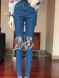Women's High Rise Micro-elastic Chinos Pants Slim Solid