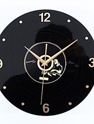 Retro Office/Business Holiday Music Wall ClockNovelty Acrylic Metal Indoor Clock 30cm